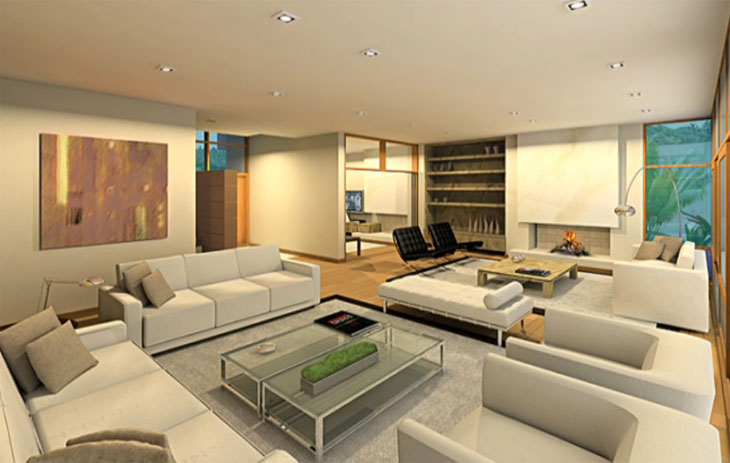 Modern Small Living Room Design With Wooden Floor Small Living Room