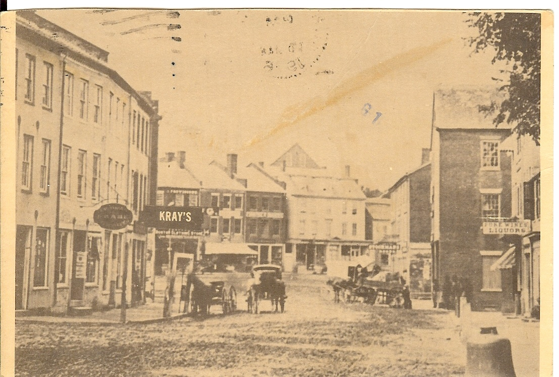 postcard, horse, buggy, newburyport, 1900
