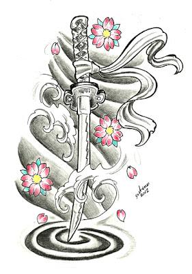 Wakizashi - Espada Ritual Espada Tattoo
