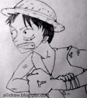 Sketch 2 of Monkey D. Luffy