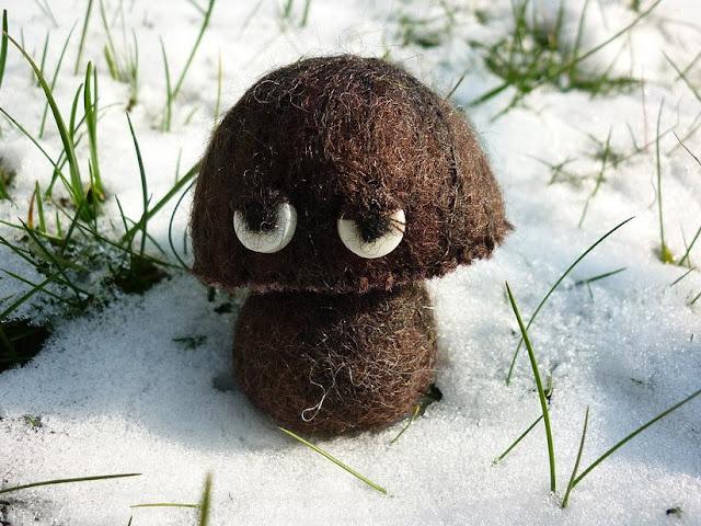 Camille Dupuis felt mushroom