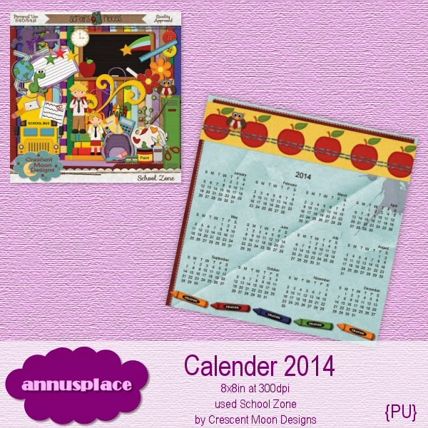 Preview of Calender 2014 freebie