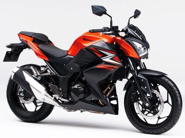 Motor Kawasaki Z250 Terbaru 2014 Jingga