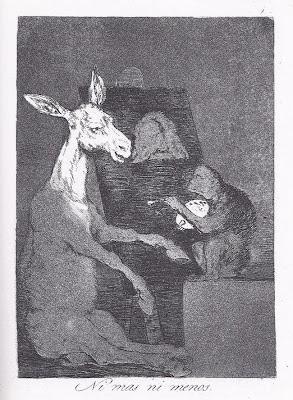 'Ni más ni menos' - Grabado nº 41 de 'Los Caprichos' de Francisco de Goya