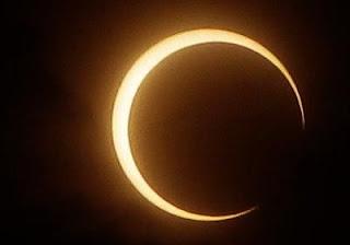 Un eclipse solar anular, el próximo domingo 20 de mayo
