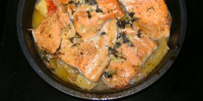 recetas de cocina salmon a la jardinera