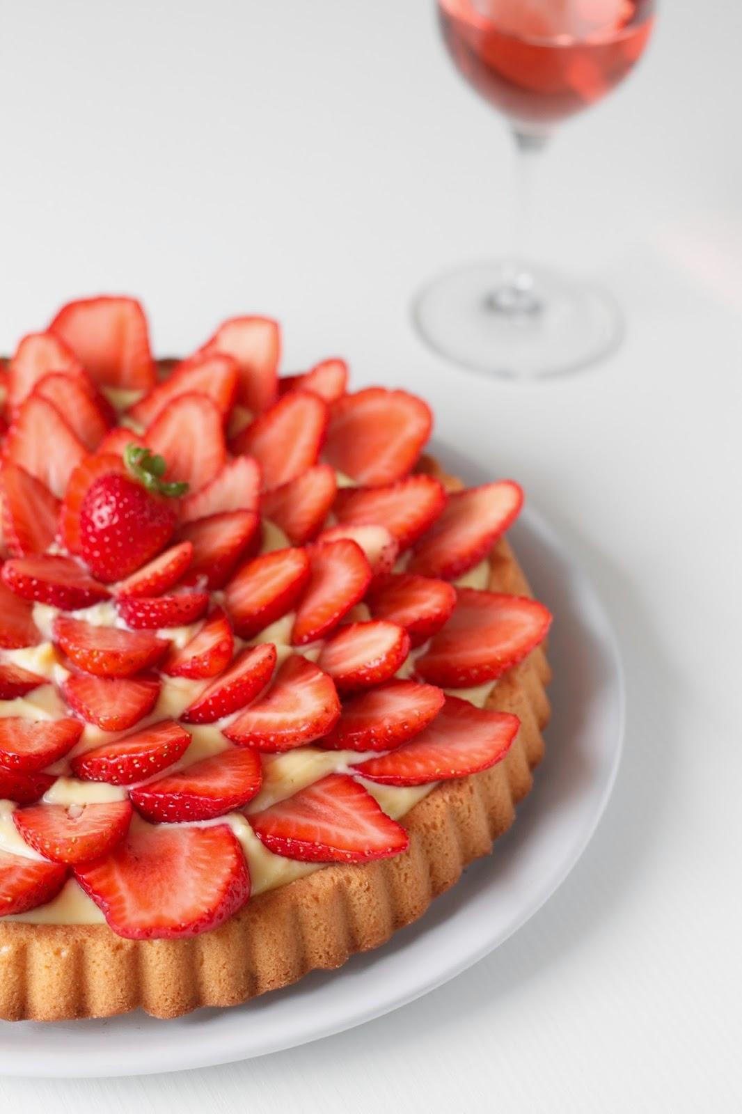 Пирог с клубникой и заварным кремом рецепт с