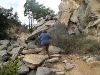 El darrer repetjó abans d'arribar al coll del Serrat de Sant Isidre