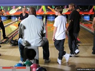 Justin Bieber bowling