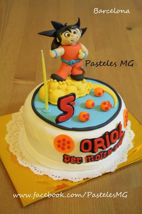 Pasteles MG: Goku en su nube: Tarta Dragon Ball Z / Bola de Drac ...