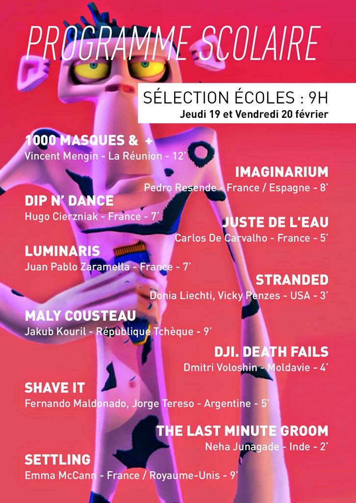 Festival MEME PAS PEUR 2015 - Programme scolaire