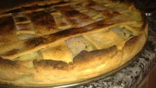 tarta de pera y coco