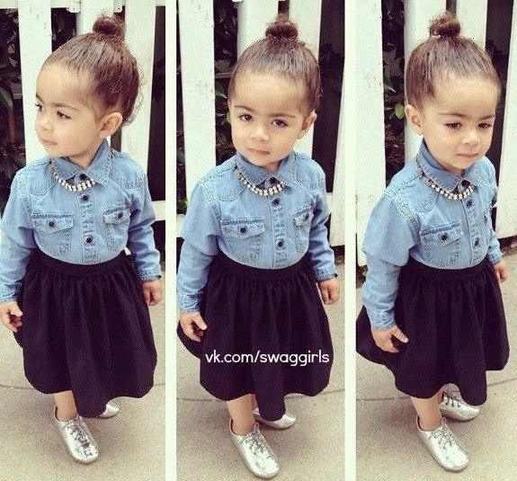 Photo vêtement bébé fille swag