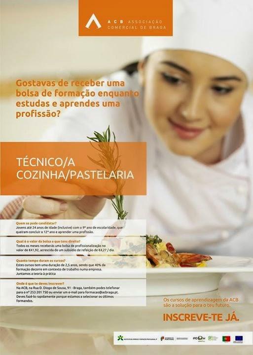 curso de cozinha e pastelaria em Braga