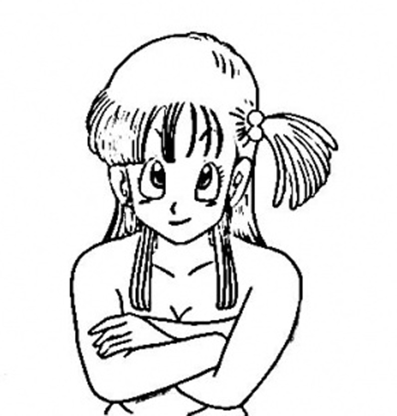 Printable Bulma Character Form Dragon Ball Coloring Pages