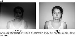 Совет 44. Еще раз следите за своими пальцами - они могут прикрывать част вспышки и из-за этого могут на снимке появляться черные полосы от их тени.