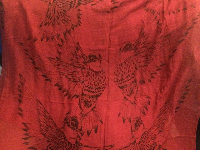 Stitchfix bird print scarf