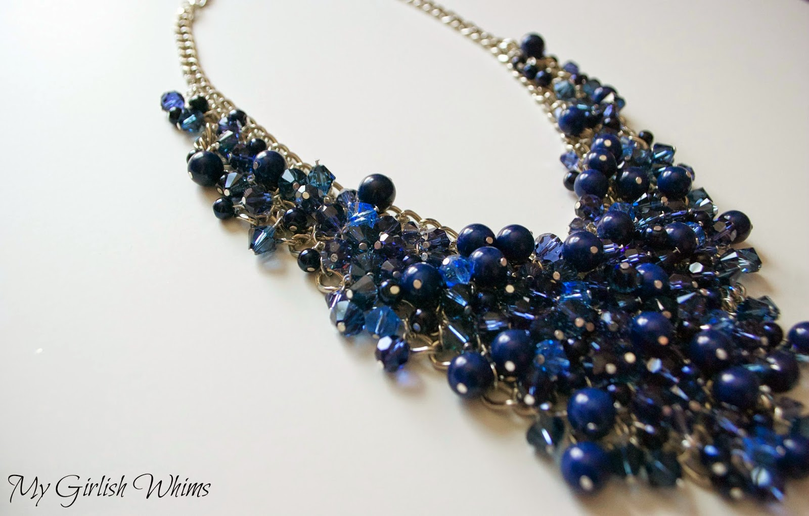 DIY Bead Cluster Web Necklace