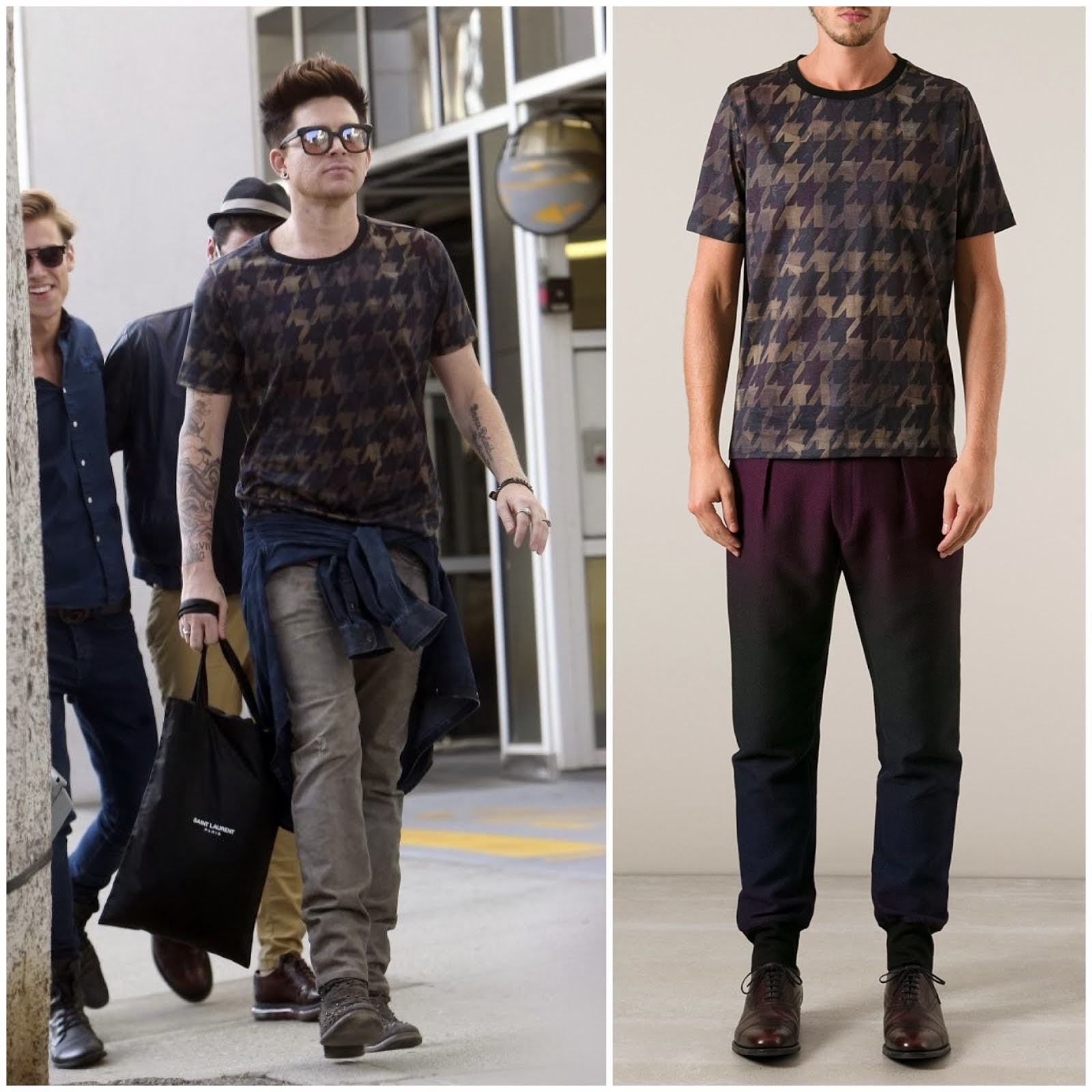 00O00 Menswear Blog: Adam Lambert in Paul Smith - Out and about in Beverly Hills