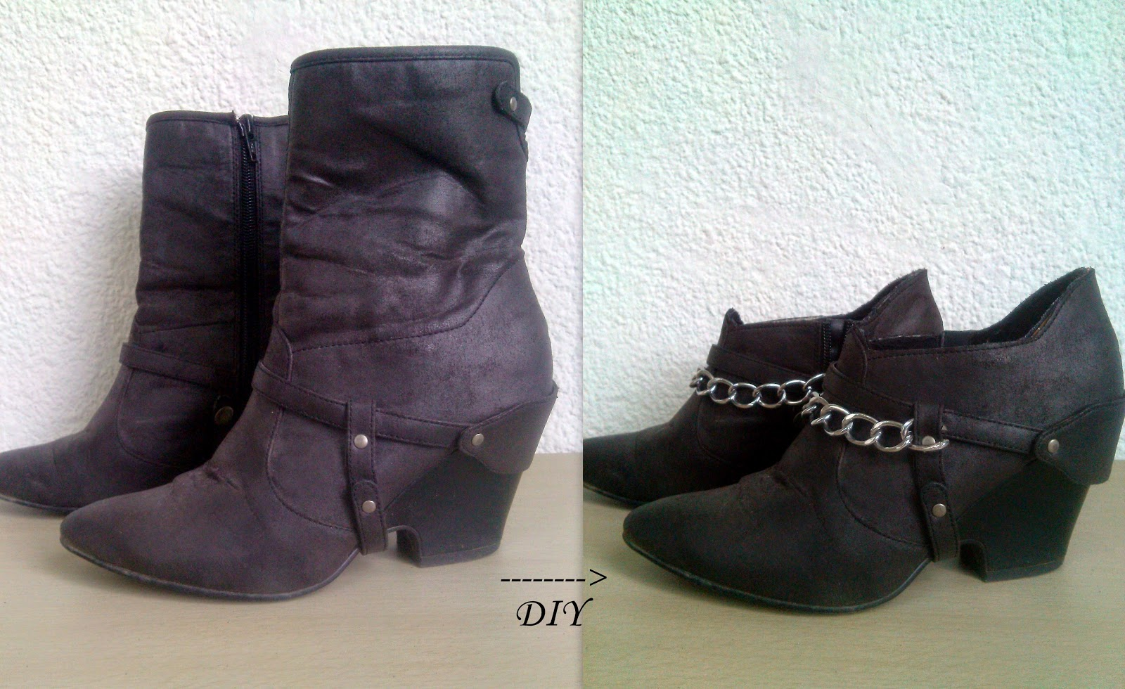 DIY, DIY chain cut boots, zara chain boots