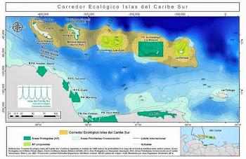 """Corredor ecológico marino """"Islas del Caribe Sur"""" enero 2013"""