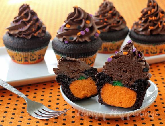 halloween stuffed cupcakes