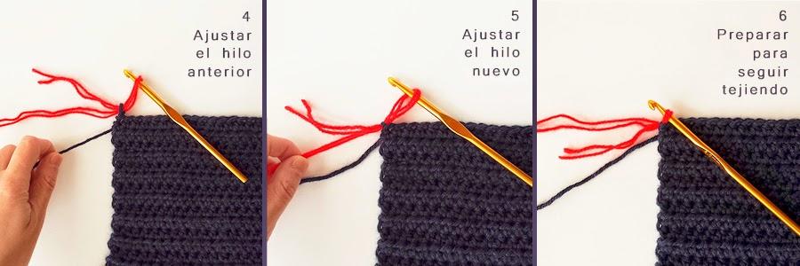 Cómo cambiar de color en ganchillo crochet