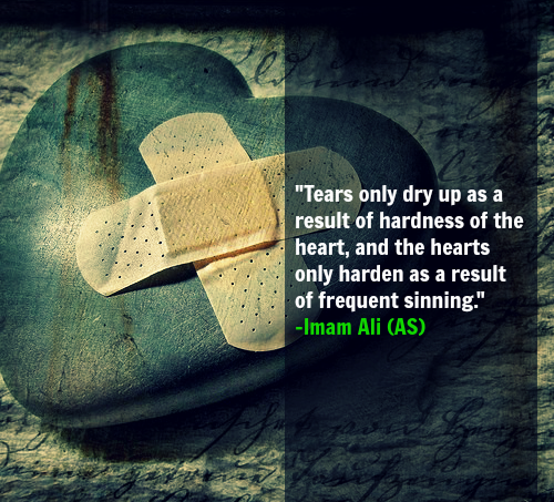 Tears only dry up as a result of hardness of the heart, and the hearts only harden as a result of frequent sinning.