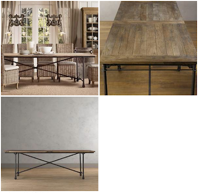 listed district 699 restoration hardware dining table