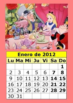 Calendario De Dibujos Animados De 2012  1   Parte