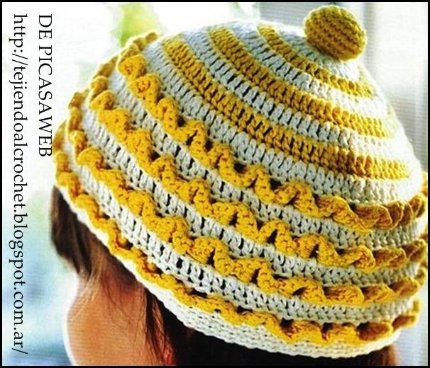 crochet fabric , CROCHET - GANCHILLO - PATRONES - GRAFICOS: BOINA Y ...