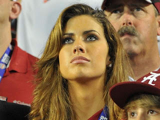 Katherine Webb watching Aj Mccarron in action