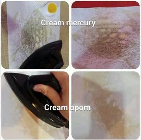 Bedakan Cream Kosmetik Anda Bermercury atau Tidak Dengan Cara Ini!