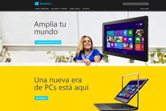 La actualización a Windows 8 ya está disponible