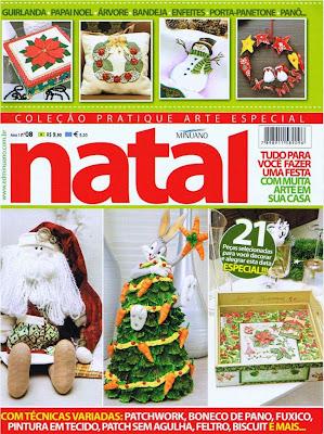 Toalha de natal, Guirlanda de Natal, Trabalhos publicados em revistas, passo a passo,