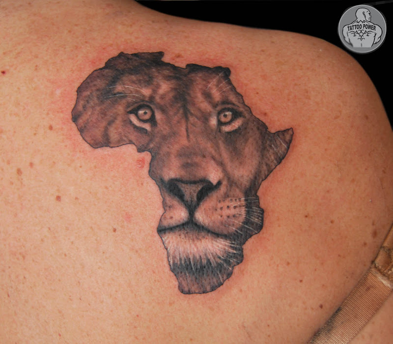 African Continent Tattoo Ideas African Continent Tattoos