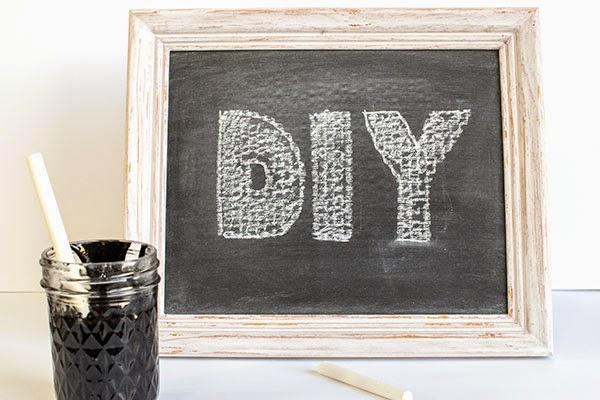 http://www.homemadehooplah.com/homemade-chalkboard-paint/