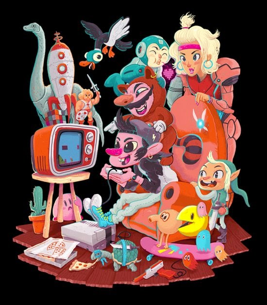 Manuel Kilger ilustrações caricatas divertidas engraçadas cultura pop