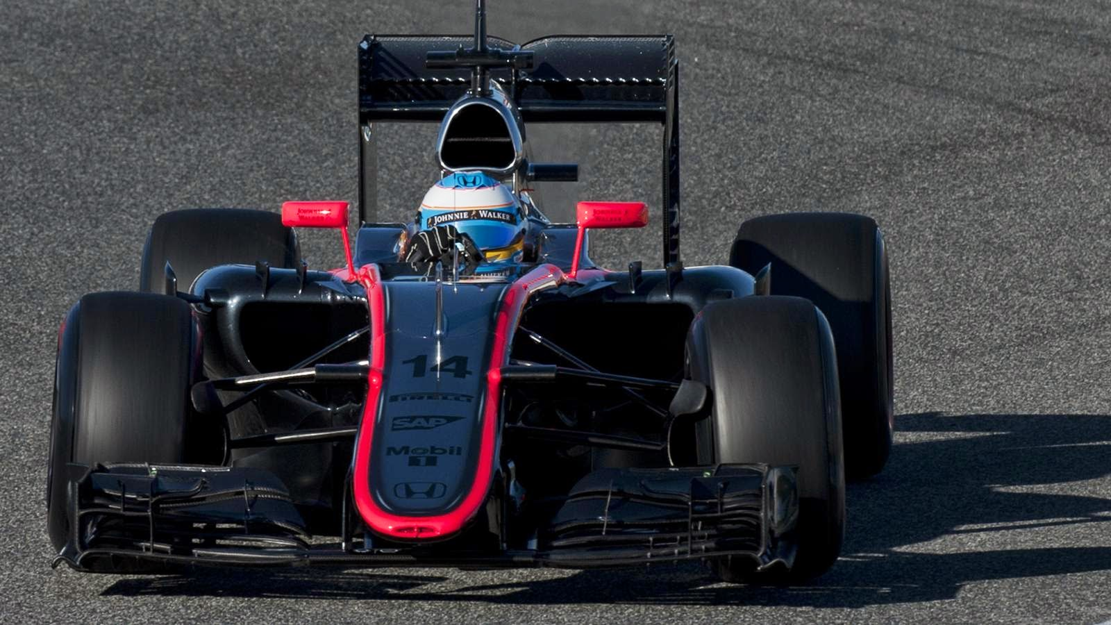 The McLaren MP4-30 suffered a technical failure on Tuesday.