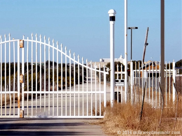 Gate to former FLDS YFZ Ranch in Eldorado, Texas, now for sale by the state