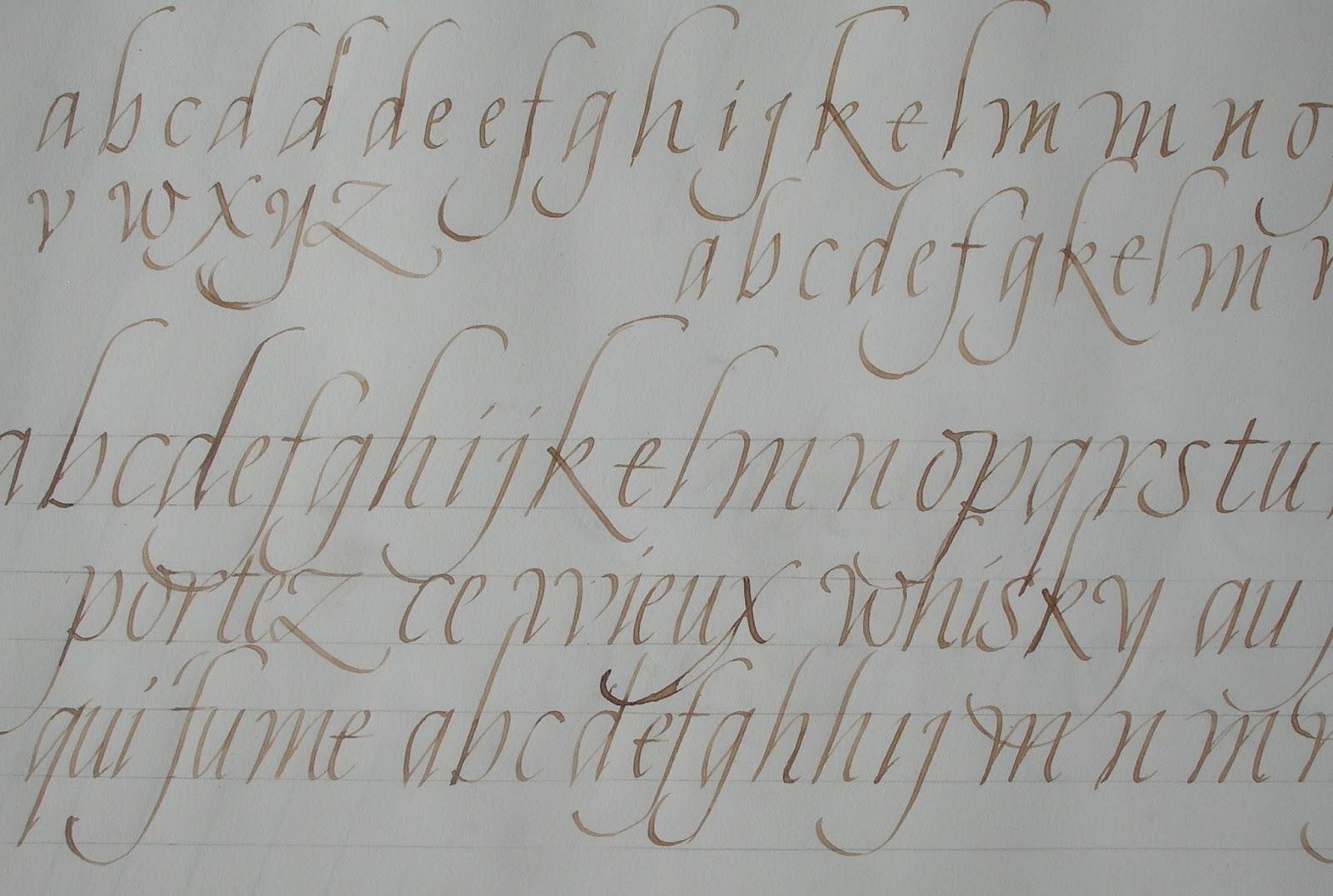 Essais et Exercices de Calligraphie: avril 2013