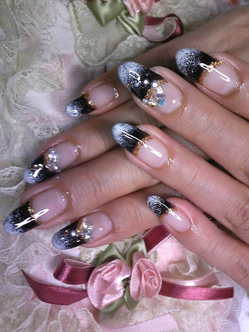 The Excellent Beautiful black white nail designs Images