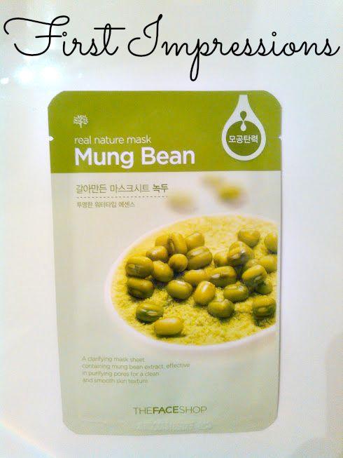 Mung bean facial
