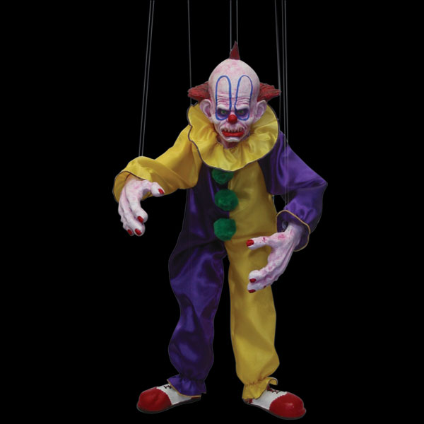 The Evil clown - Zombie horror puppet - Masks, Halloween, Costumes ...