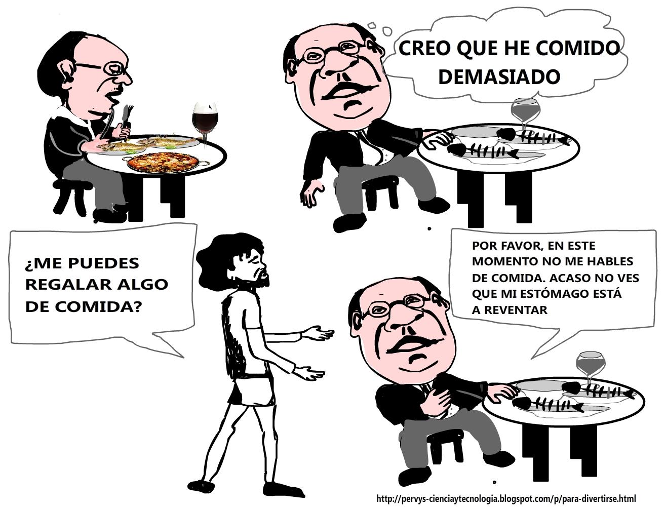 CHISTE GRÁFICO:HASTIADO DE COMIDA