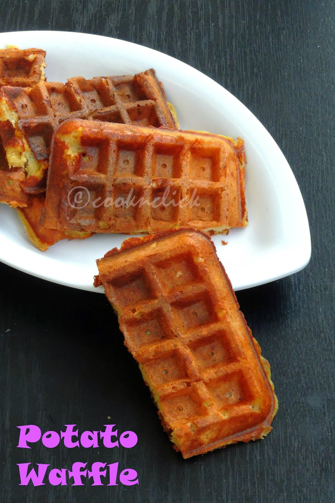 Waffles with mashed potatoes