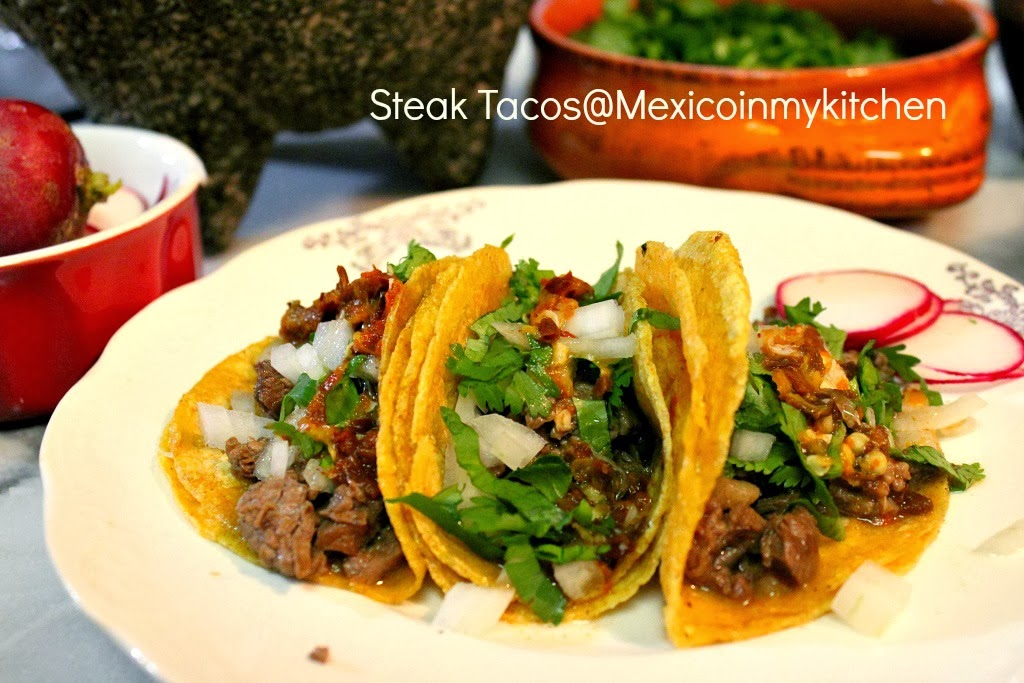 Steak Picado Tacos Mexican Steak Tacos / Cómo