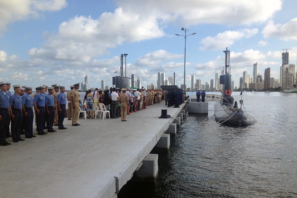 submarino colombia arc tayrona