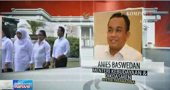 Anies Baswedan - Menteri Kebudayaan dan Pendidikan Dasar dan Menengah