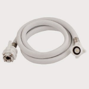 White Plastic Automatic Washing Machine Inlet Hose Tube Pipe 2m